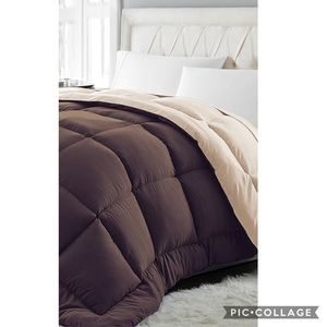 Chocolate & Khaki Lightweight Down-Alt Comforter
